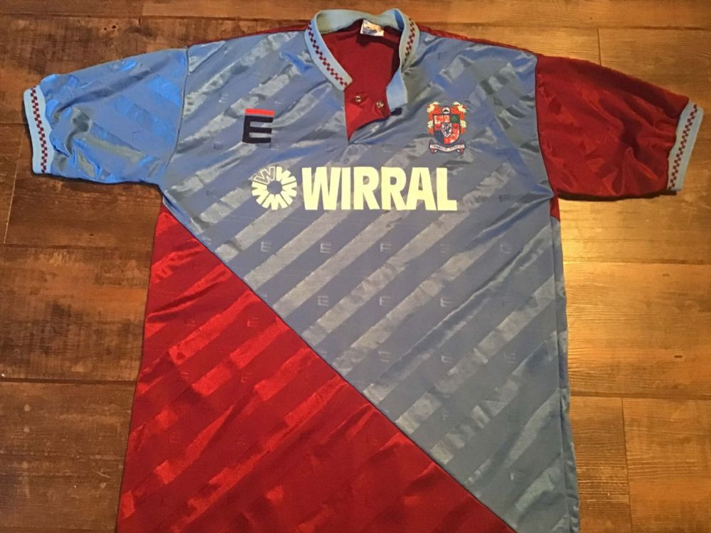 1989 1991 Tranmere Rovers Away Football Shirt Large
